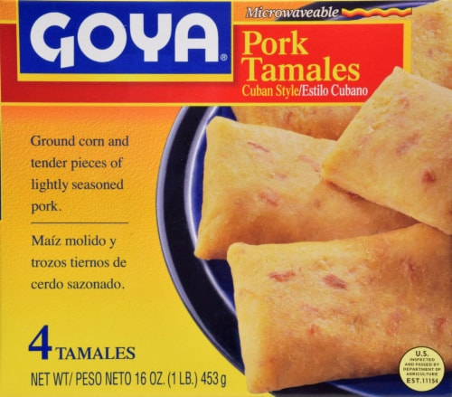 Goya Cuban Style Pork Tamales Perspective: front