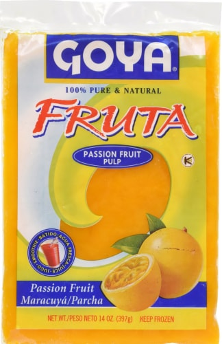 Goya Fruta Passion Fruit Pulp Perspective: front
