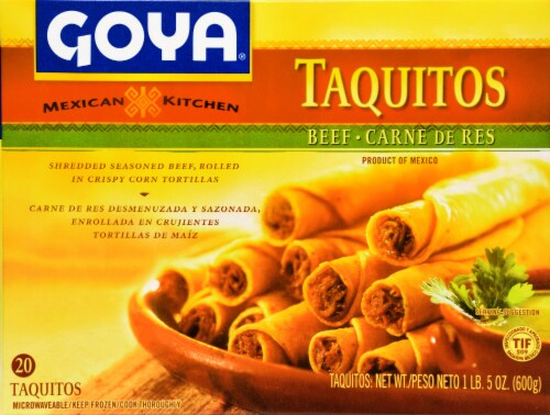 Goya Beef Taquitos Perspective: front