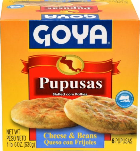 Goya Pupusa Cheese & Beans Perspective: front