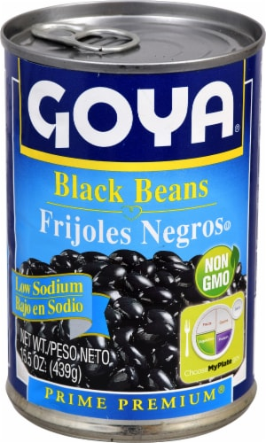 Goya Low Sodium Black Beans Perspective: front
