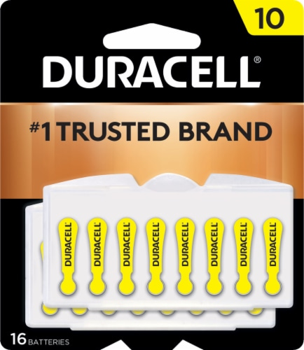 Duracell Size 10 Hearing Aid Batteries Perspective: front