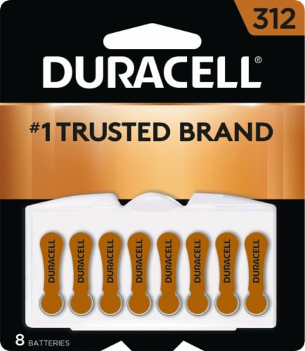Duracell Size 312 Hearing Aid Batteries Perspective: front