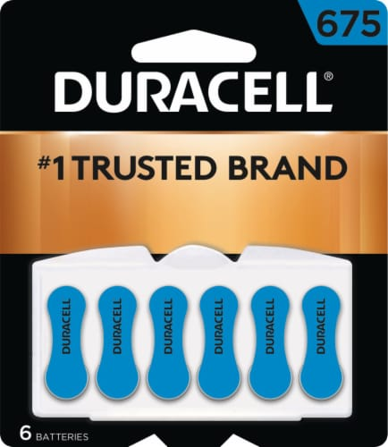 Duracell Size 675 Hearing Aid Batteries Perspective: front