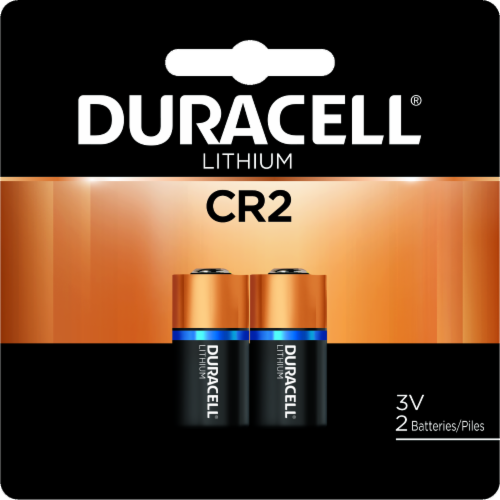 Duracell Ultra Photo Lithium CR2 Batteries Perspective: front