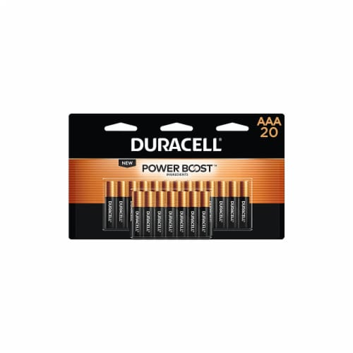 Duracell Coppertop AAA Alkaline Batteries 20 pk Carded - Case Of: 1; Each Pack Qty: 20; Total Perspective: front