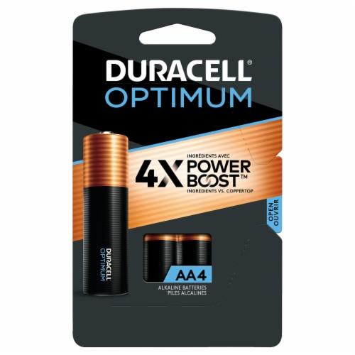 Duracell Optimum AA Alkaline Batteries Perspective: front