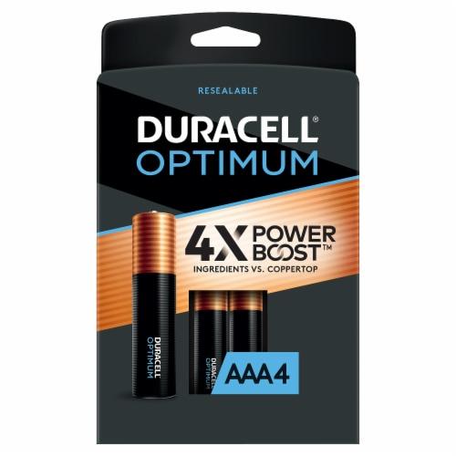 Duracell® Optimum AAA Alkaline Batteries Perspective: front
