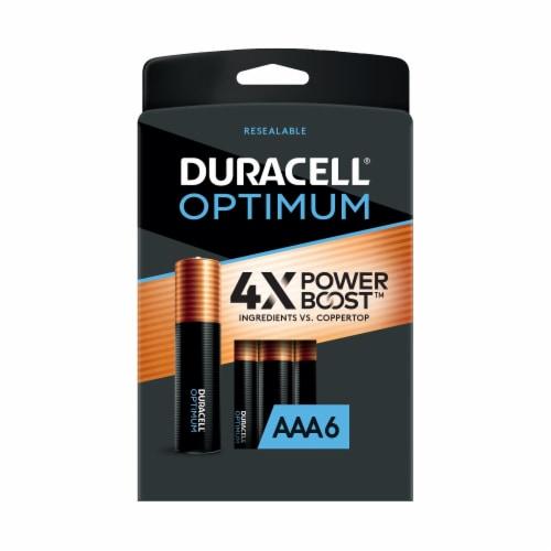 Duracell Optimum AAA Alkaline Batteries Perspective: front