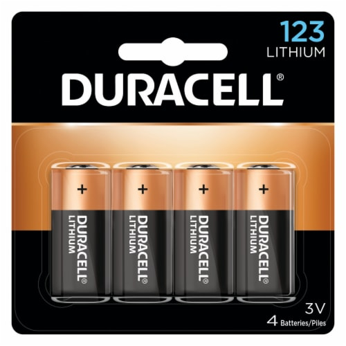 Duracell Lithium 123 Specialty Batteries Perspective: front