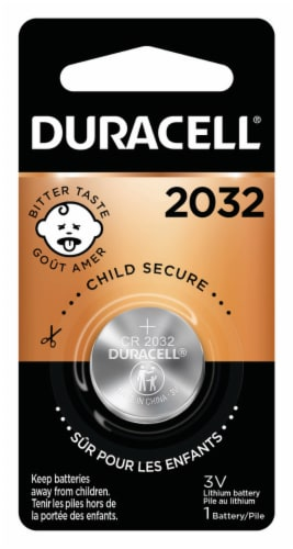 Duracell 2032 Lithium Coin Battery Perspective: front