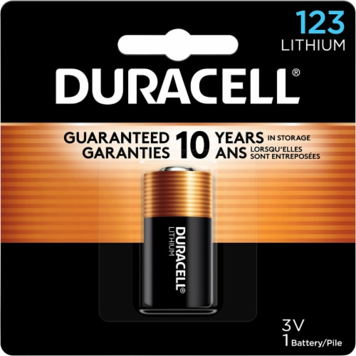 Duracell 123 Lithium Specialty Battery Perspective: front