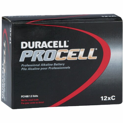 Duracell ProCell C Alkaline Battery (12-Pack) 85495 Perspective: front