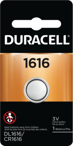 Duracell 1616 Lithium Coin Battery Perspective: front