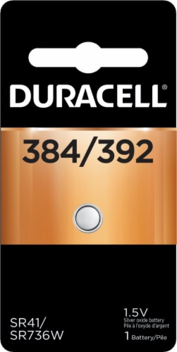 Duracell 384/392 Silver Oxide Battery Perspective: front
