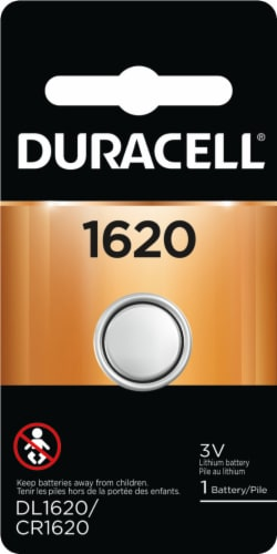 Duracell® 1620 Lithium Coin Battery Perspective: front