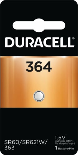 Duracell 1.5-Volt 364 Silver Oxide Battery Perspective: front