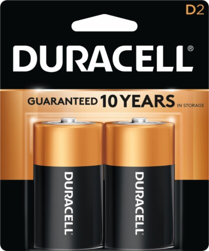 Duracell Alkaline D Batteries Perspective: front