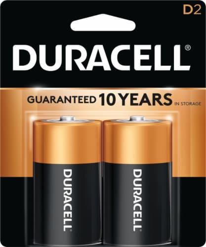 Duracell® Alkaline D Batteries Perspective: front