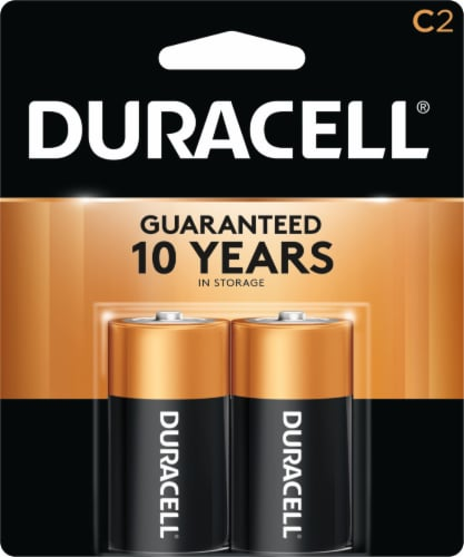 Duracell Alkaline C Batteries Perspective: front