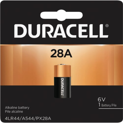 Duracell Battery,Alkaline,Size 28A,6VDC  PX28A Perspective: front