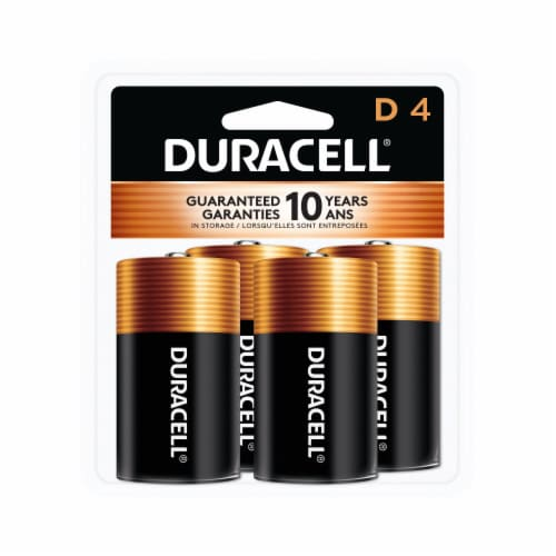 Duracell D Alkaline Batteries Perspective: front