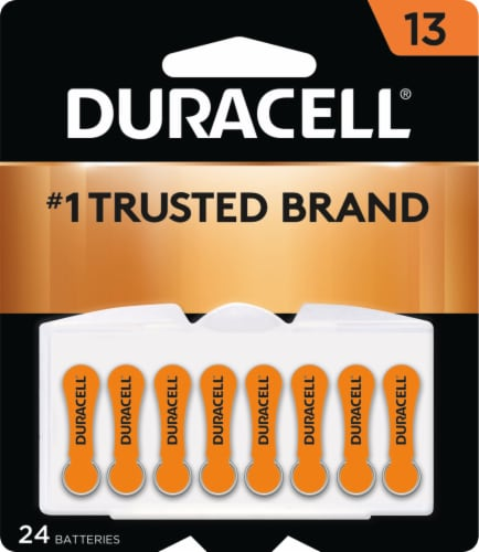 Duracell Size 13 Hearing Aid Batteries Perspective: front