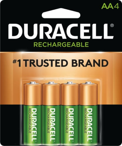 Duracell Rechargeable AA Batteries Perspective: front
