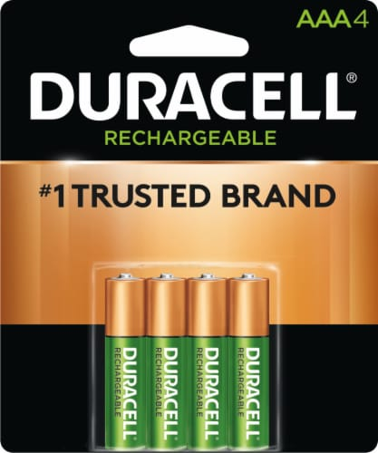 Duracell Rechargeable AAA Batteries Perspective: front