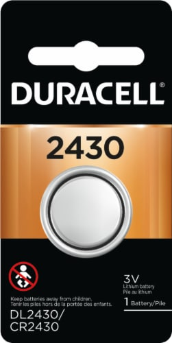 Duracell 2430 Lithium Coin Battery Perspective: front