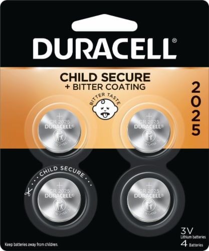 Duracell 2025 Lithium Coin Batteries Perspective: front