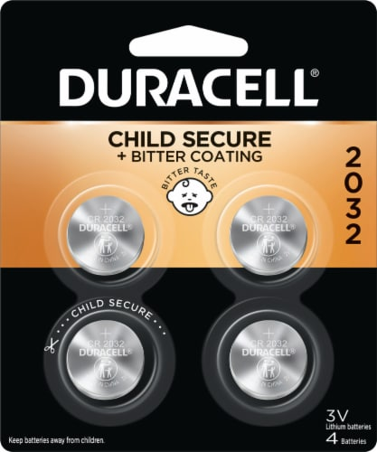 Duracell 2032 Lithium Coin Batteries Perspective: front