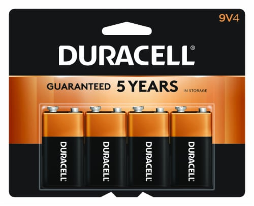 Duracell 9V Alkaline Batteries Perspective: front