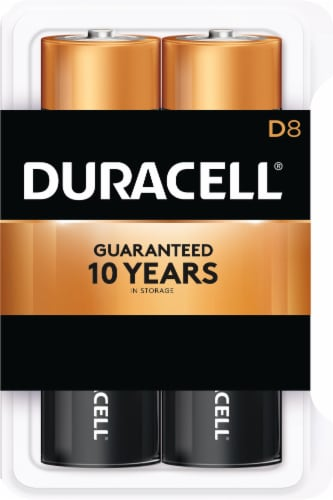Duracell D Alkaline Batteries Perspective: front