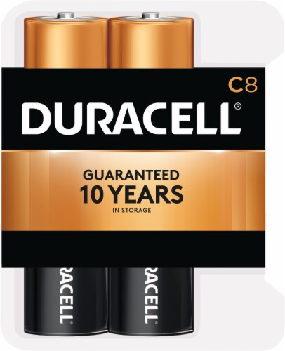 Duracell C Alkaline Batteries Perspective: front