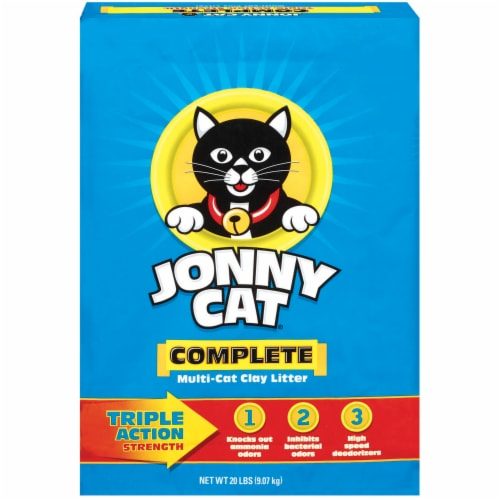 Jonny Cat Complete Triple Action Multi-Cat Clay Litter Perspective: front
