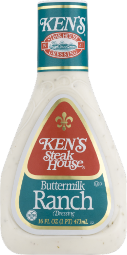 Ken's Steak House Buttermilk Ranch Dressing Perspective: front