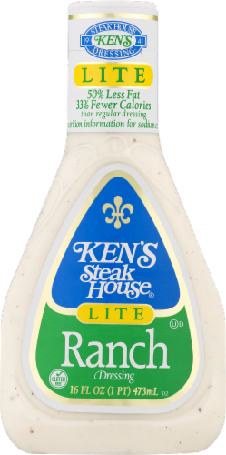 Ken's Steak House Lite Ranch Dressing Perspective: front