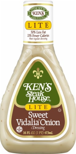 Ken's Steak House Lite Sweet Vidalia Onion Dressing Perspective: front