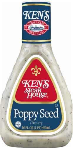 Ken's Steak House Lite Poppy Seed Dressing Perspective: front