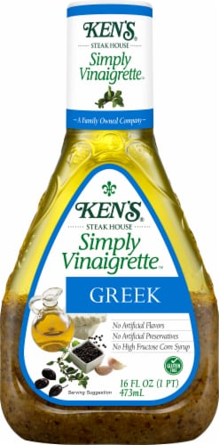 Ken's Steak House Simply Vinaigrette Greek Dressing Perspective: front