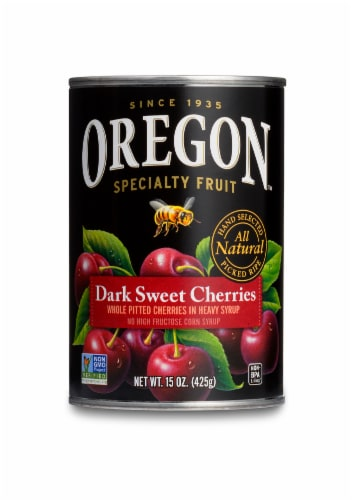 Oregon Fruit Products Pitted Dark Sweet Cherries Perspective: front