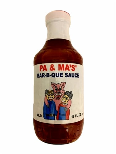 Pa & Ma's Mild Bar-B-Que Sauce Perspective: front