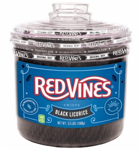 Red Vines Black Licorice Twists Perspective: front