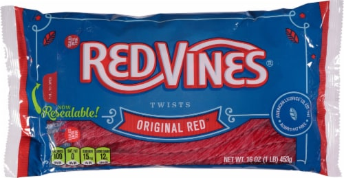 Red Vines Original Red Twists Perspective: front