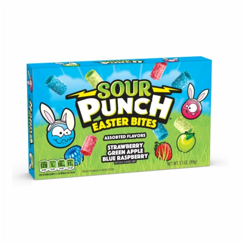 Sour Punch Easter Bites Theater Box Candy Perspective: front