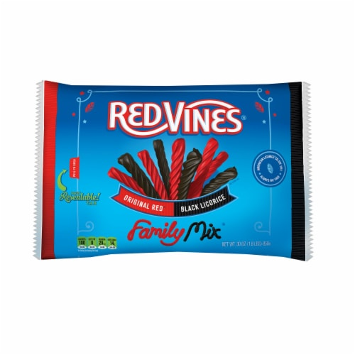 Red Vines Original Red & Black Licorice Family Mix Perspective: front