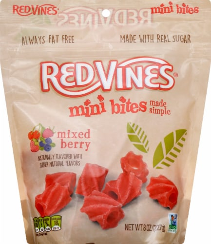 Red Vines Mixed Berry Mini Bites Perspective: front