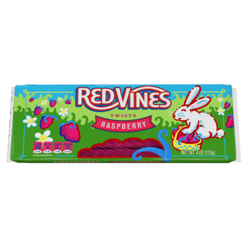 Red Vines Easter Raspberry Tray Chewy Candy Perspective: front