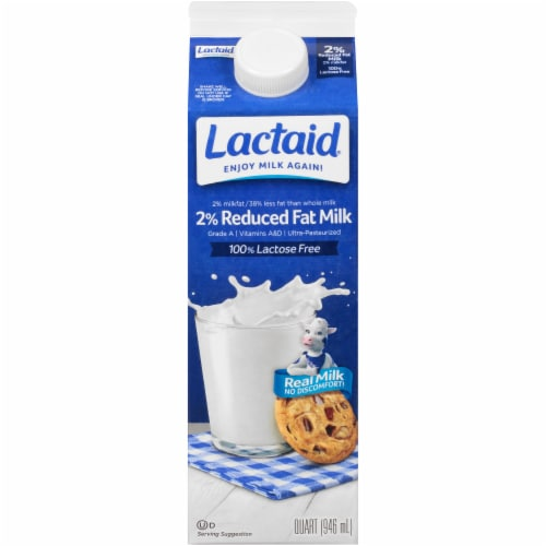 Lactaid® 100% Lactose Free 2% Reduced Fat Milk Perspective: front